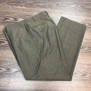 Canali Mocha Tan Check Dress Pants 36x30